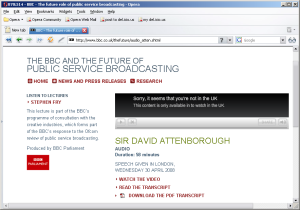 David Attenborough and The Future Of The BBC Audio