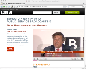 Stephen Fry and The Future Of The BBC Video