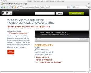 Stephen Fry and The Future Of The BBC Audio