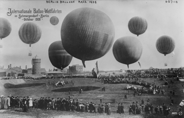 1908 Berlin Balloon Race from the Bain Collection